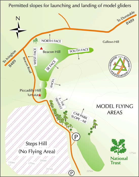 Ivinghoe Beacon site map